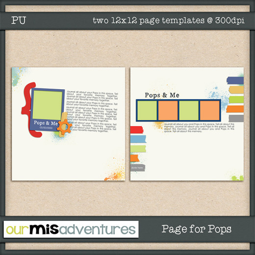 Page for Pops Templates