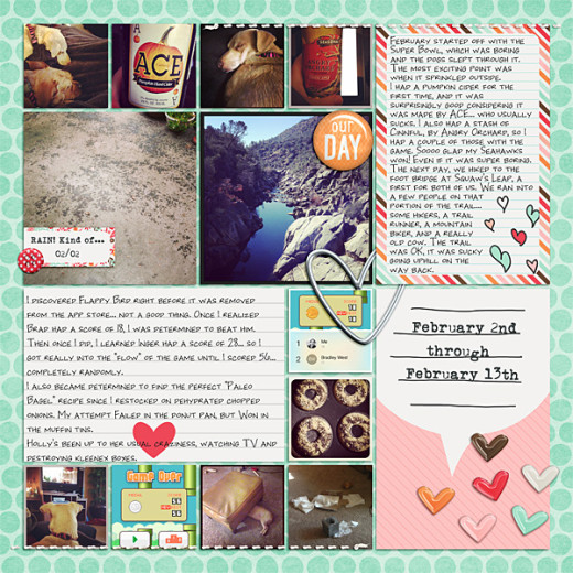 Made with the February 2014 Storyteller products by Just Jaimee.