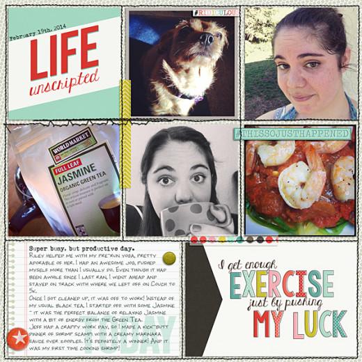 Meg's Boring Life Digiscrap Page 3
