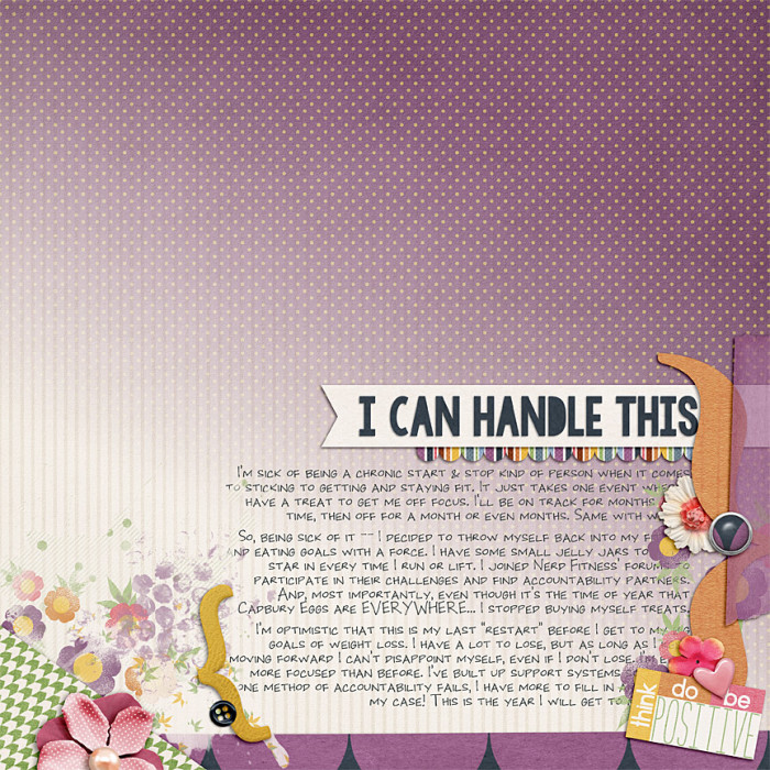 Accountability Digiscrap Page