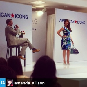 My favorite floral dress from the Clinton Kelly show at Macy's in Fresno