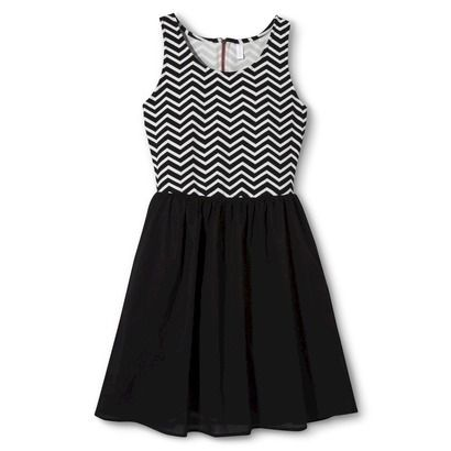 black and white chevron dress from Target