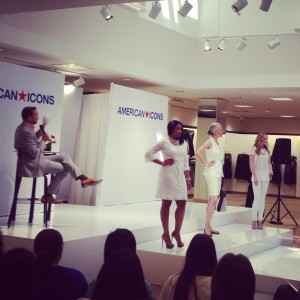 "Models showing off the ""All-White"" fashion trend at Clinton Kelly's Fashion Event"