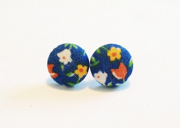 "Favorite ""Trish"" Calico Earrings from The Hosford Housewife on Etsy"