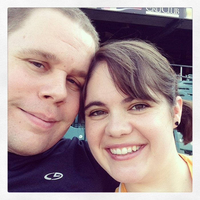Meg and Jeff at a Fresno Grizzlies Game