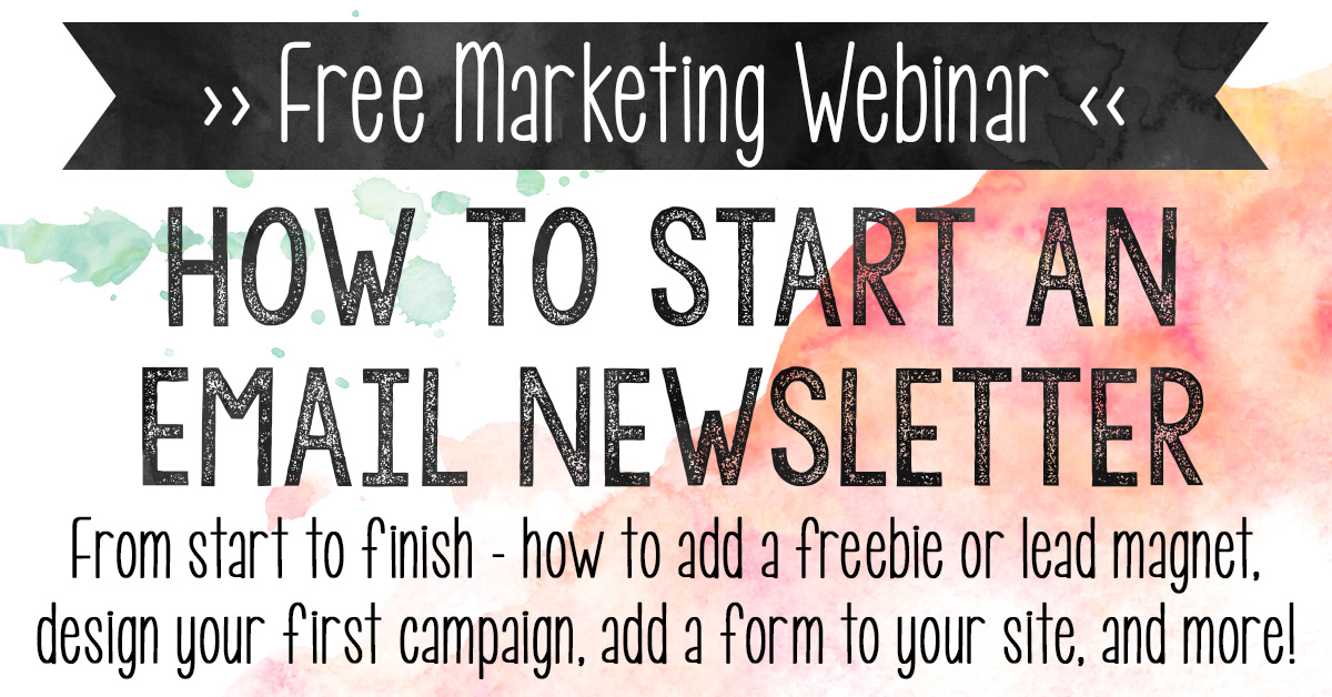 Lost when it comes to starting your newsletter? Watch this free webinar! From start to finish – how to add a freebie or lead magnet, design your first campaign, add a form to your site, and more!